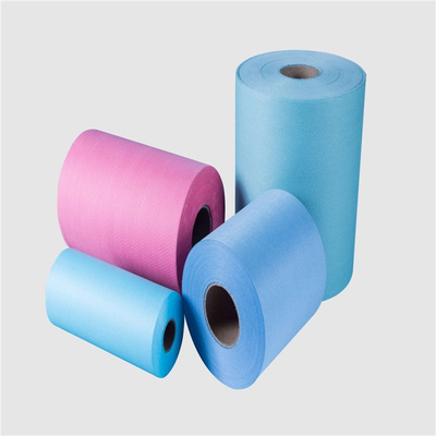 colorful medical wiping clean cloth raw material woodpulp spunlace nonwoven in roll